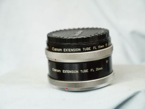 Canon FL Macro Extension Tubes 15MM + 25MM  - Great for Close Ups -